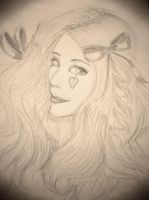 Emilie Autumn Inspired Drawing by AWishInTheNight