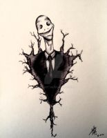 SlenderMan's Smile by mokaart