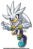 Silver the Hedgehog by SailorMoonAndSonicX