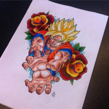 Goku Tattoo Design by Hamdoggz