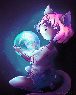 curious orb by Ayelk