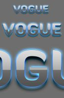 Vogue Photoshop 3D Text Styles by ArtoriusGothicus