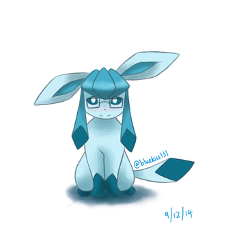 Request: Shy Glaceon by BluuKiss