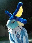Vaporeon cosplay with Argentina uniform by vaporeon1306
