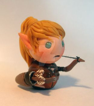 Chibi elf archer miniature by ComeNozes
