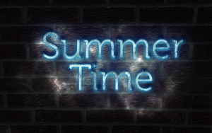 Summer Time Neon Blue Grunge by oxygenhazard
