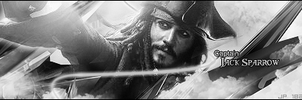 Jack Sparrow Black and White by Jp182
