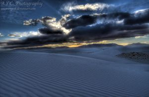 White Sands Sunset by pacmangeek