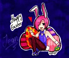 HAPPY EASTER! (with Jean) by FoxGirlX