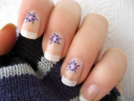 French Flower Manicure part 4 by xzibitka