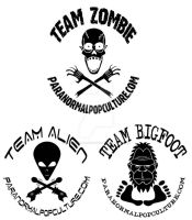 Team Creatures-Paranormal Pop Culture Tee Shirts by Gonzocartooncompany