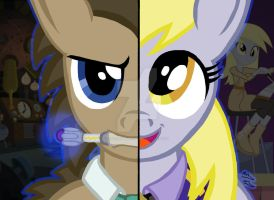 My Little Pony FIM Duality: Derpy and Dr. Hooves by OptimumBuster