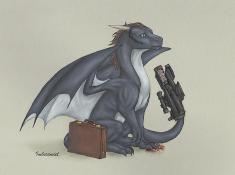 Agent Coulson Dragon by Imbecamiel
