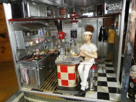 1:12 Scale Handcrafted 1950'S Diner by Ann Maselli by MiniatureMadness