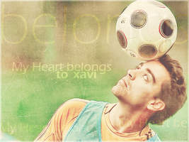 My Heart belongs to '   Xavi  ' by w6n3oshaq