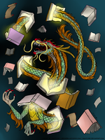 Open a book, and a Dragon may appear. by AngieMP