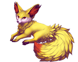 Fennekin by MrMootles
