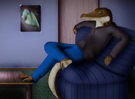 Relaxing Crocodile by RiddersmanGrim