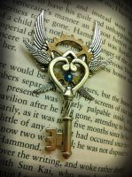 Heavenly Gears Fantasy Key by ArtByStarlaMoore
