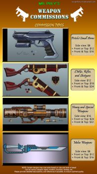 Mr. Poly's Weapon Commission Info Sheet by BurgerForLunsh