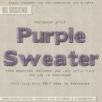 PS Style: Purple Sweater by HGGraphicDesigns