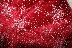 Red snow cloth by waterweed-stock