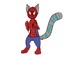 spider cat by catdoq