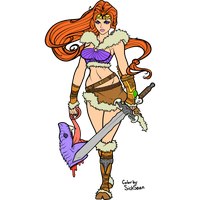 Barbarian Woman Lines  Transparent By Dawnieda by SickSean