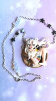 Sailor Moon handmade nacklace with polymer clay ca by SimonaZ