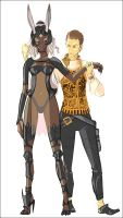 Balthier and Fran by doven