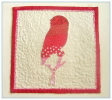 September mini owl quilt front by restlesswillow