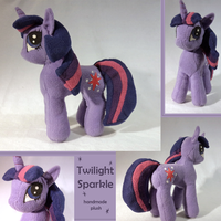 Twilight Sparkle Plushie by sockmuffin-studios