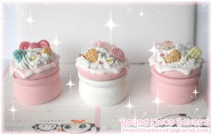Round Deco Boxes 1 by Fluffntuff