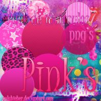 Pack 18 circulos Pinks png by polybieber
