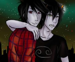 Marshall lee x karkat by cat-breath