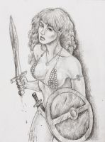 Red Sonja After A Battle by chewjfsh