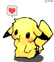 pichu :3 (inspired, but drawn myself) by BlondieAu