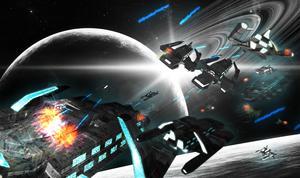Foundation : Space Fight by MassimoGuidi