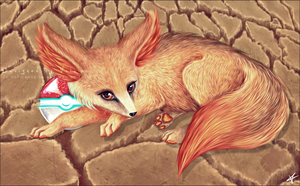 Realistic Fennekin by Valuiss
