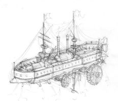 Airship sketch 3 by JanBoruta