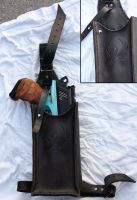 Mavrick thigh holster - HvZDK by Simbaen
