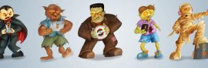 Classic Monsters - Gaming Edition by tabu-art