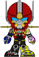 Chibi Gosei Great Megazord by Zeltrax987