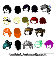 Mixed Hair batch #2 by InspirationalMonster
