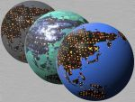 Cubepolis Globe Terra Icon set by taketo