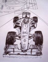 F1 car doodle by Galbatore