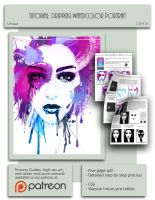 Dripping Watercolor Photoshop Tutorial by S-Hirsack