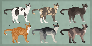 Cat adoptables :TAKEN: by Kultapossu