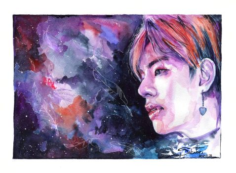 V from BTS  Blood Sweat and Tears by SakuTori