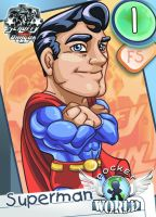 Pocket World Superman Card by Arqueart
